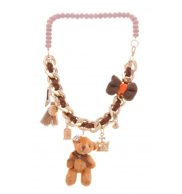 Brown Teddy Bear Necklace