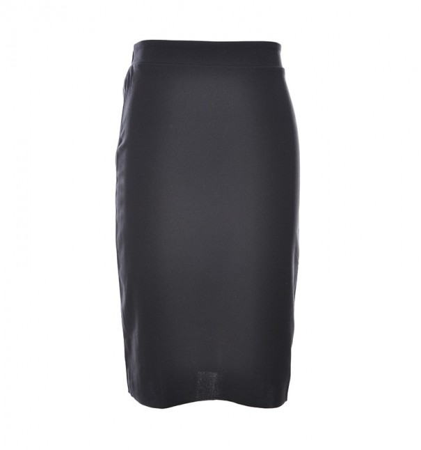 Black Plain Pencil Skirt