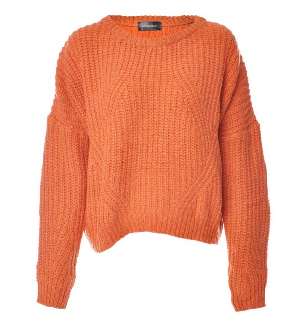 Orange Stitched Sweater