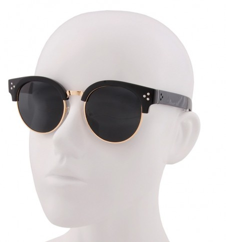 Rivet Detail Semi-Rim Sunglasses
