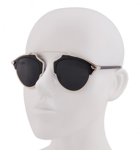 Silver Black Frames Brow Bar Sunglasses