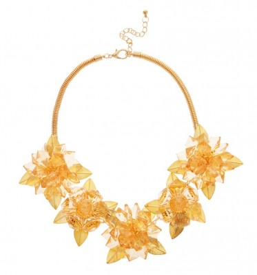 Gold Crystal Flower Necklace