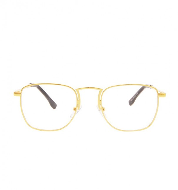 Gold Metal Frame Square Readers