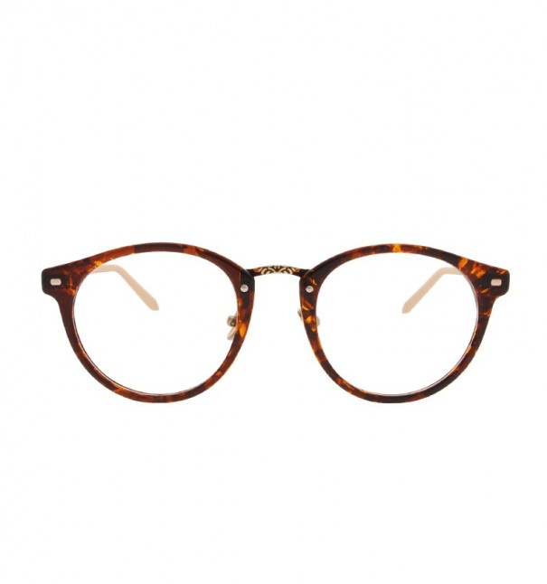 Tortoiseshell Engraved Round Readers