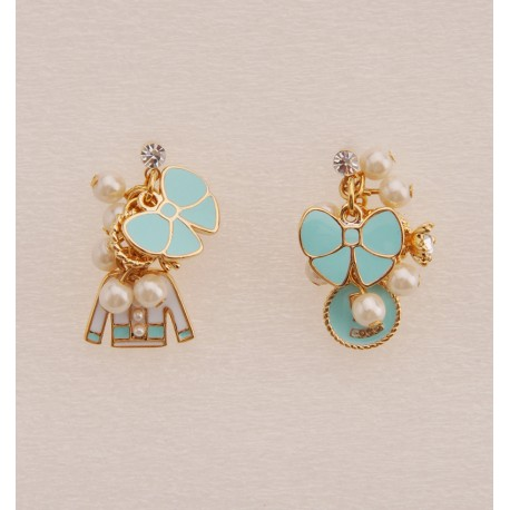 Tiffany Blue Ribbon Cluster Earrings