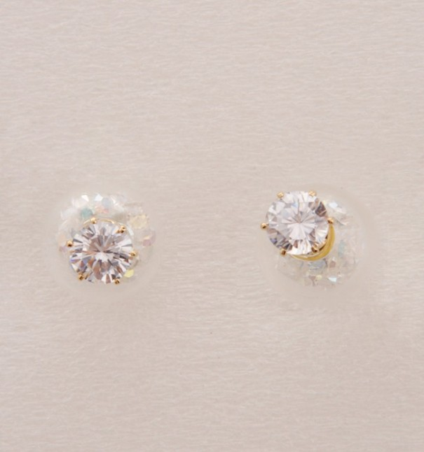 Round Shape Diamond Globe Earrings