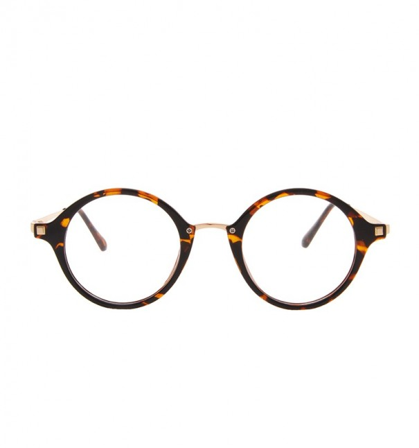 Tortoiseshell Thick Round Glasses