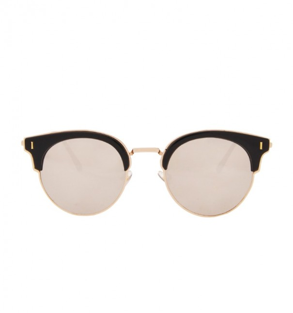 Mirror Retro Cat Eye Sunglasses