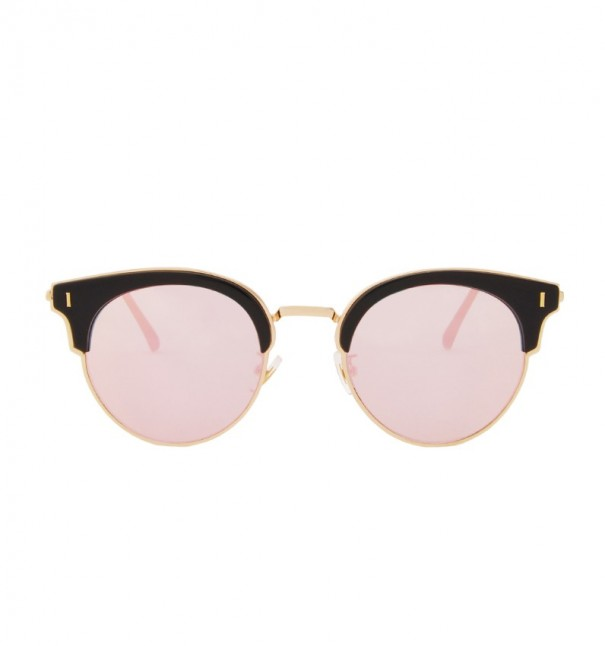 Pink Mirror Retro Cat Eye Sunglasses