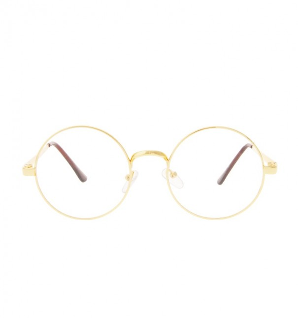 Gold Round Reader Glasses