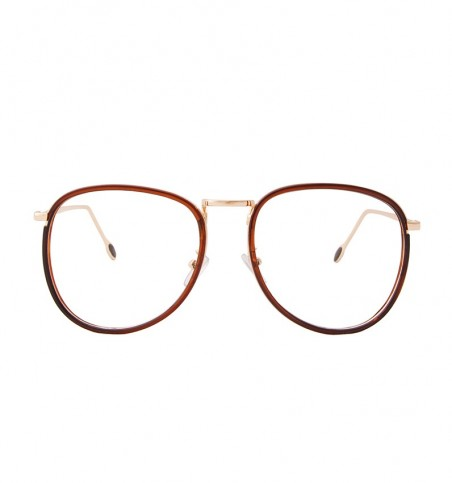 Brown Gold Oversized Aviator Readers