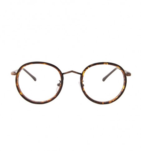 Tortoiseshell Engraved Round Glasses