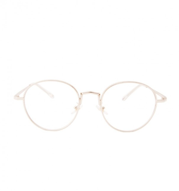 Alexis Silver Round Glasses