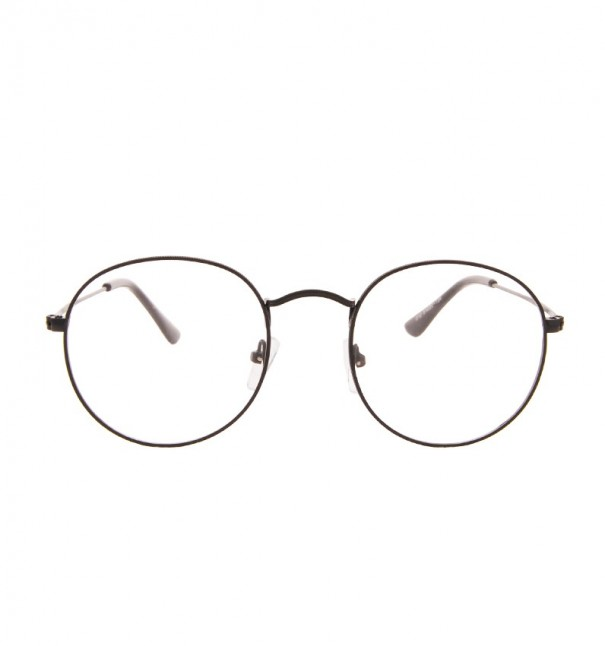 Linh Black Round Glasses