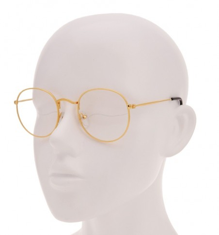 Linh Gold Round Glasses