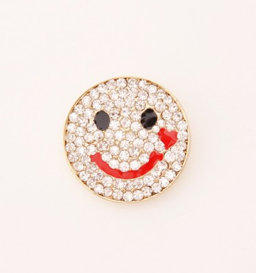 Smiley Brooch