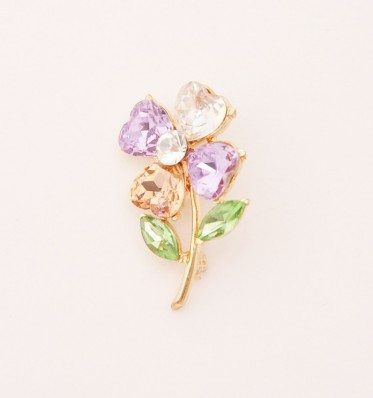 Love Petals Flower Brooch