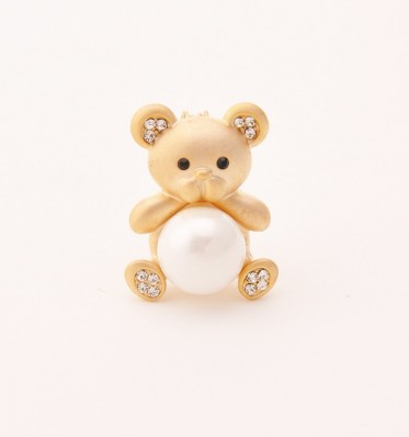 Gold Bear Brooch