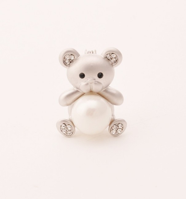 Silver Bear Brooch