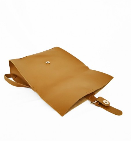 Brown Bucket Flap Backpack